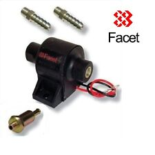 FACET POSI FLOW FUEL PUMP (1.5-4.0 Psi) + 10mm HOSE UNIONS + FILTER UNION