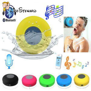 Waterproof-Wireless-Bluetooth-Handsfree-Mic-Suction-Speaker-Shower-Car-New