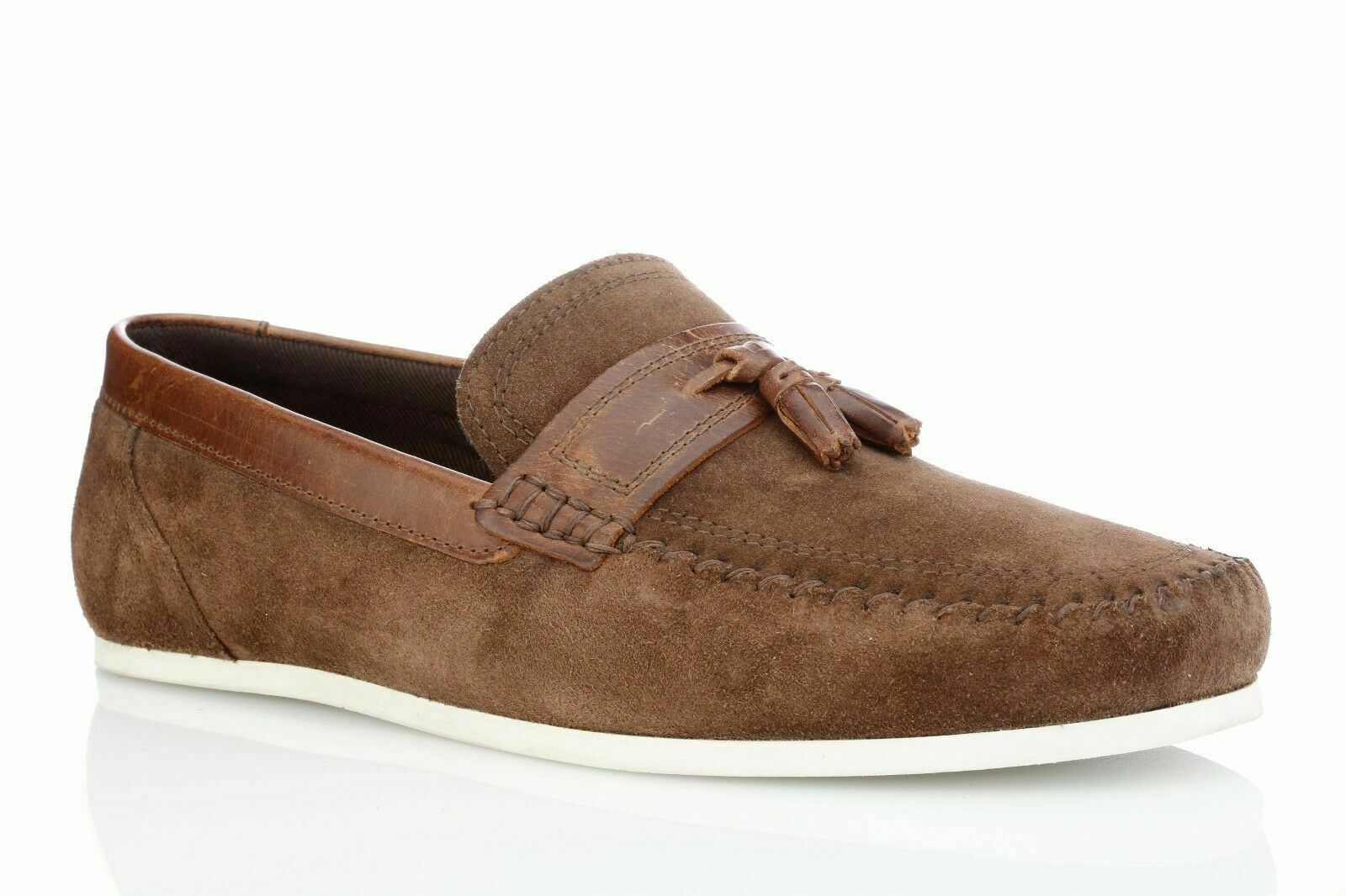 Red Tape Men's Houghton Brown Leather Casual Loafer Boat Deck Driving Shoes