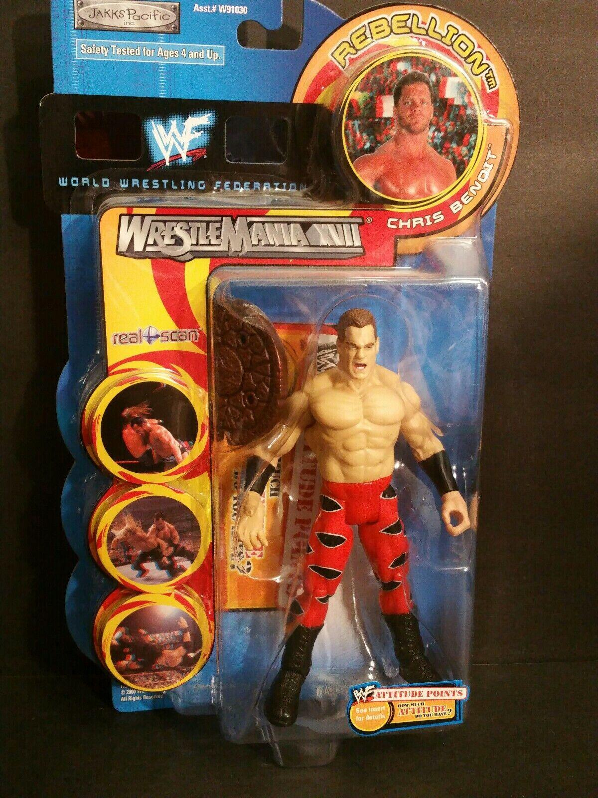 WWF LUCHA MANÍA XV11 Chris Benoit figura de acción (025)