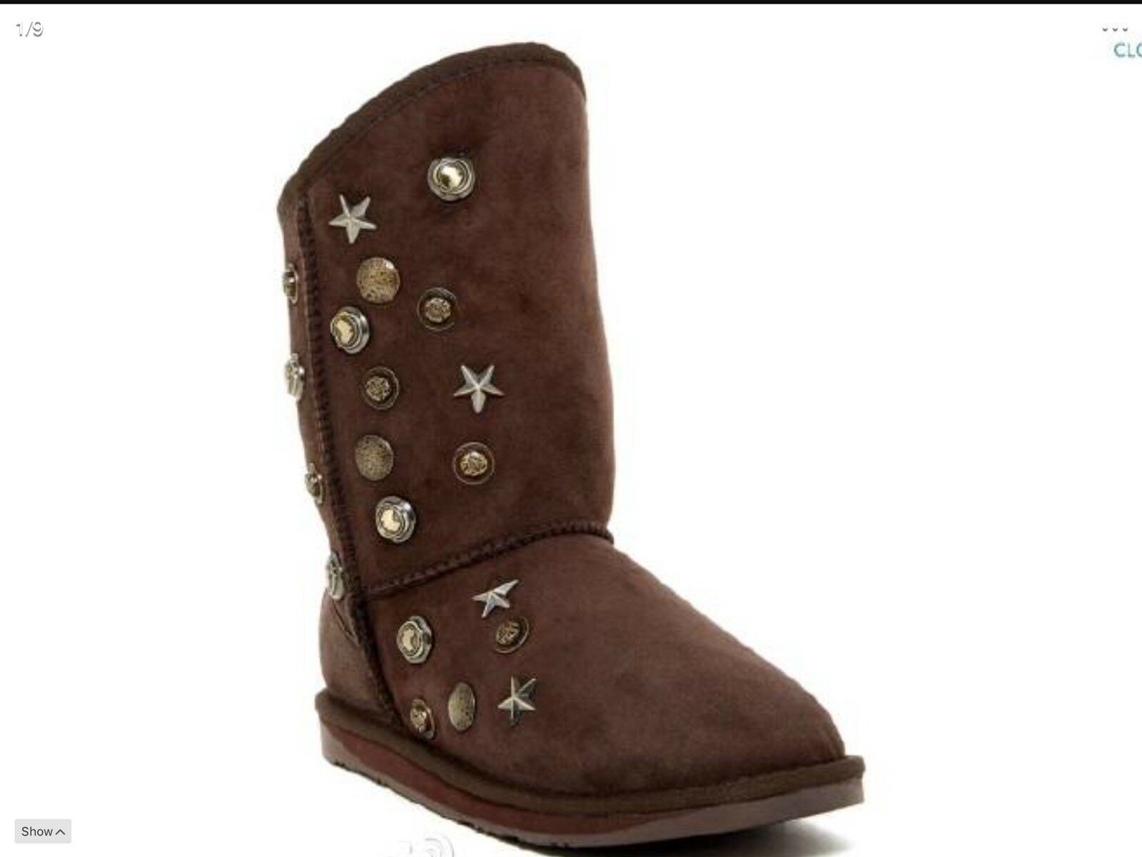 prendi l'ultimo Australia Australia Australia Luxe Collective Angel Stud Sheepskin stivali in Beva MSRP 425 New In Box  basso prezzo del 40%