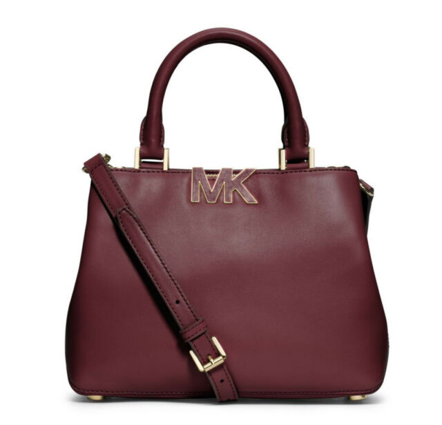 Michael Kors Leather Florence Claret Small Satchel Bag