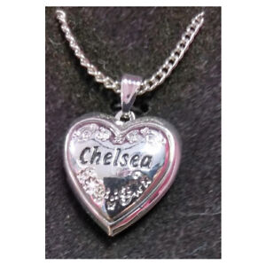 Chelsea Love Locket Silver Colored Heart Jewelry Necklace Brand New Ebay