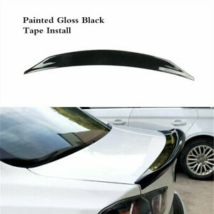 Rear Trunk Spoiler Lip Wing Black Fit For Mitsubishi Lancer EVO 2008-2017 Sedan