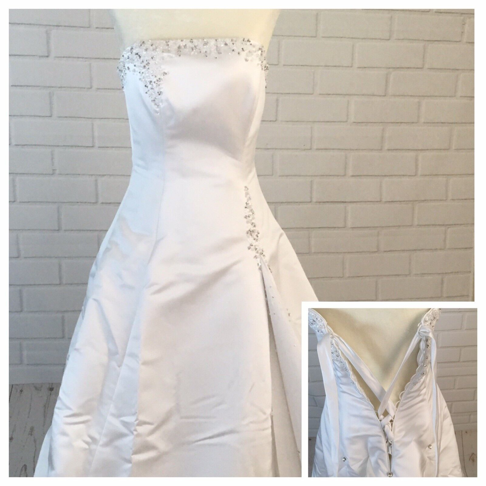 Wedding Dress Women's Size 6  With Vail Maggie So… - image 2