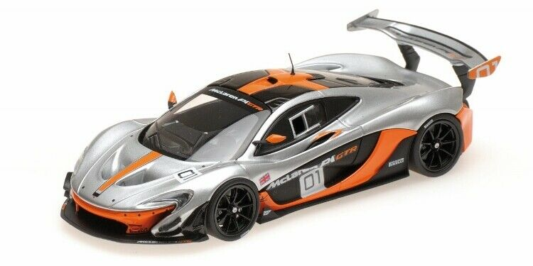 McLaren P1 GTR Pebble Beach 2014 en escala 1 43 Diecast Casi Real