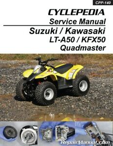 Details about Suzuki LT-A50 Quadmaster Kawasaki KFX50 ATV Printed Service on