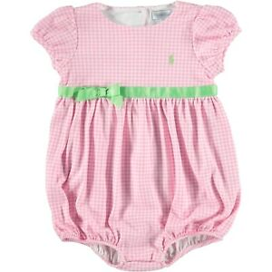 f5b9c4bd8 RALPH LAUREN baby Girl pink gingham ROMPER 12 18M 18 24M (83 90cm ...