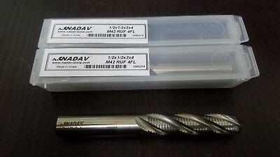 "Lot of 2 NADAV™ 16mm .6299/"" 16x16x32x92 M42 HSS-Cobalt Z4 Roughing End Mill"