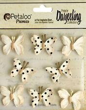 WILD BUTTERFLY 7 Mix Printed PINK 35-40mmx20-30mm High Paper Darjeeling Petl Ver