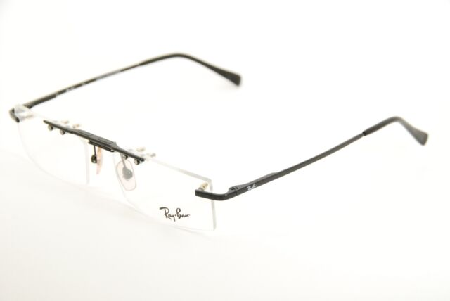 ada2b18f65fb New Authentic Ray Ban RB6120 2509 Black 53mm Eyeglasses Rimless Frames RX