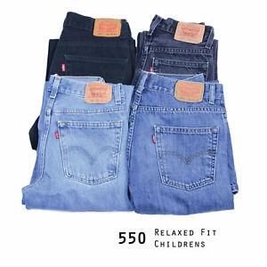 Vintage-Ninos-Jeans-Levis-550-relajado-ajuste-grado-a-W28-W29-W30-W31-W32