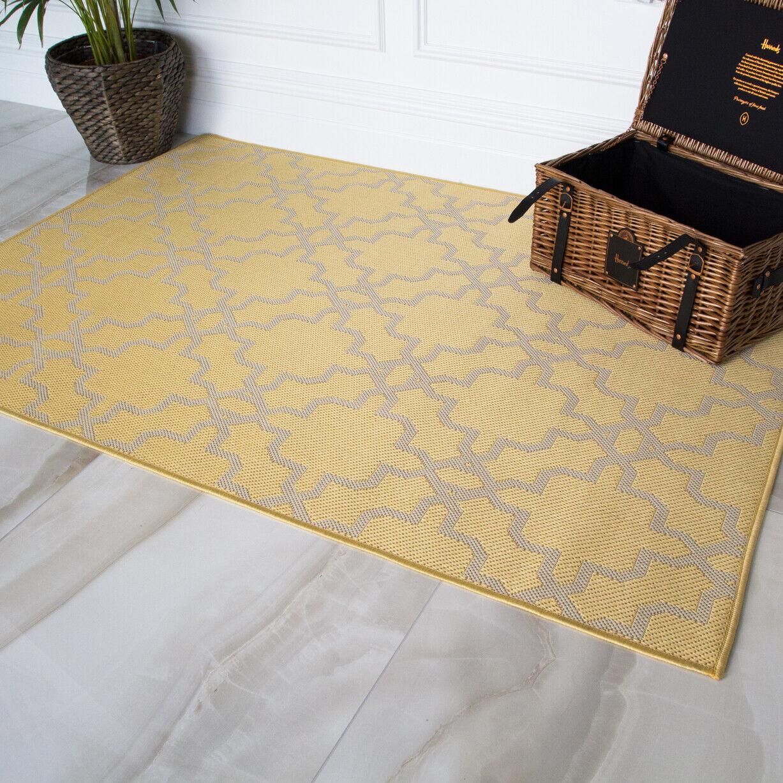 New Long Hall Hall Hall Runner Fresh Gelb Trellis Tuscan Flatweave Indoor Large Desk Rug 3ff0bf