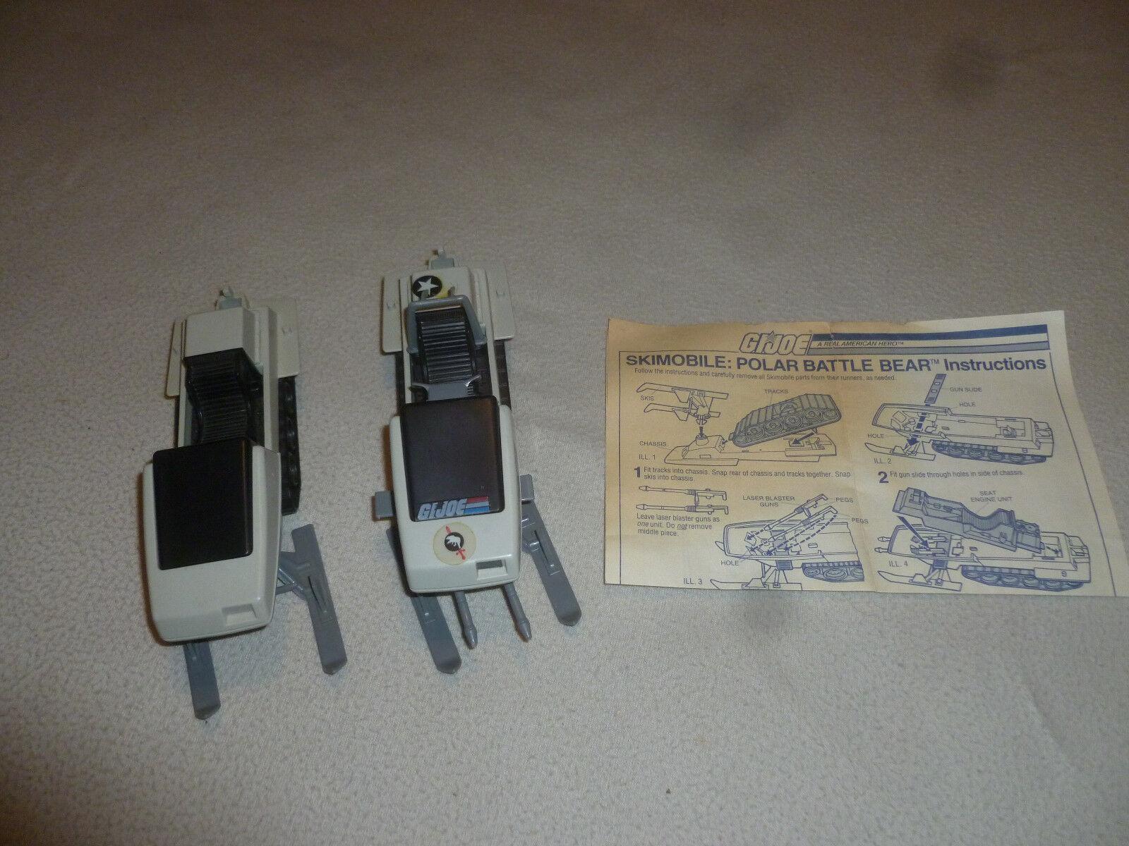 GI JOE SKIMOBILE POLAR BATTLE BEAR VINTAGE VEHICLES 1983 HASBRO W INSTRUCTIONS