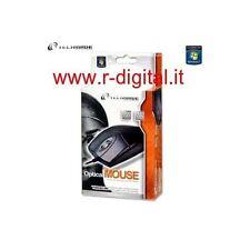 MOUSE OTTICO TECHMADE INTERFACCIA PS2 / USB NERO NOTEBOOK COMPUTER NETBOOK FILO