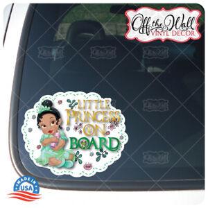 Baby-Tiana-034-LITTLE-PRINCESS-ON-BOARD-034-Awareness-Warning-Sign-Vinyl-Sticker