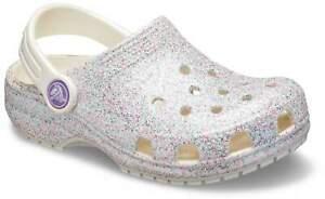 Crocs Zoccoli Kids 'Classic Glitter Clog RAGAZZA BIANCO 205441-159