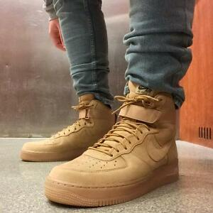 New Nike Men S Air Force 1 High 07 Lv8 Wb Flax 2016 Wheat 8us