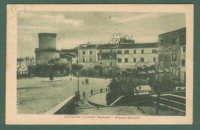 Lazio. LANUVIO, Roma. Piazza Bernini. Cartolina d'epoca ...