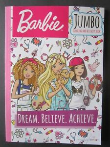 Image Is Loading Barbie 034 Dream Believe Achieve Jumbo Coloring