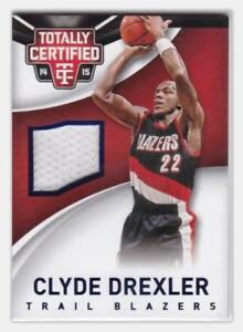 2014-15-Panini-Totally-Certified-Jersey-199-Clyde-Drexler-Basketball-Card