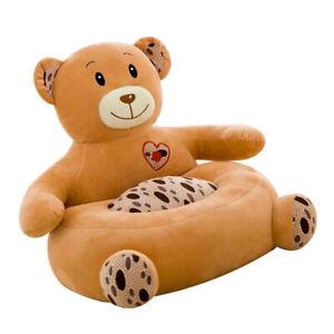 Kinder Sofa Sitzbezug Sessel Tierform Baby Sitzsack Abdeckung Bär