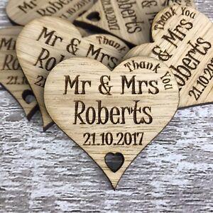 Image Is Loading Personalised Wedding Favours Thank You Fridge Magnets Wood