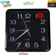 Mini 1080P WIFI HD SPY Hidden IP Camera DVR Wall Clock Real-Time Video Nanny Cam