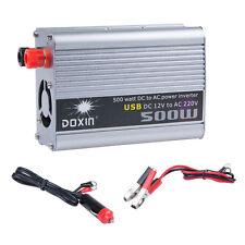 500W 500 WATT 12V DC to 220V AC Voltage Car Truck Boat Power Inverter Converter