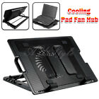 """AU Stock 9""""-17"""" Laptop Cooling Pad Fan Table Stand Fits Notebook Cooler USB Hub"""