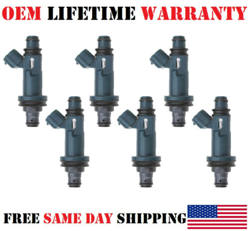 Set//6 re-man OEM DENSO #23250-20020 Fuel Injectors //97//98//99 Lexus ES300 3.0L V6