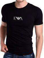 EMPORIO ARMANI Men's cotton Muscle EA T-shirt in Black - Slim Fit -Size M L XL 3