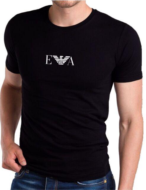 24e423c478 EMPORIO ARMANI Men's cotton Muscle EA T-shirt in Black - Slim Fit -Size M L  XL 3