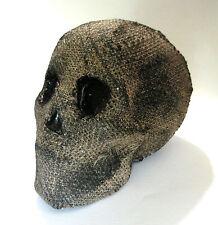 Skull Mummy Burlap Covering  Skeleton Halloween Party Haunted House Prop