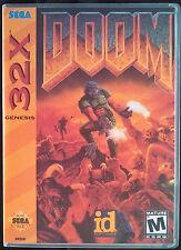 Doom Sega 32X High Quality Box art/Case by RetroDan
