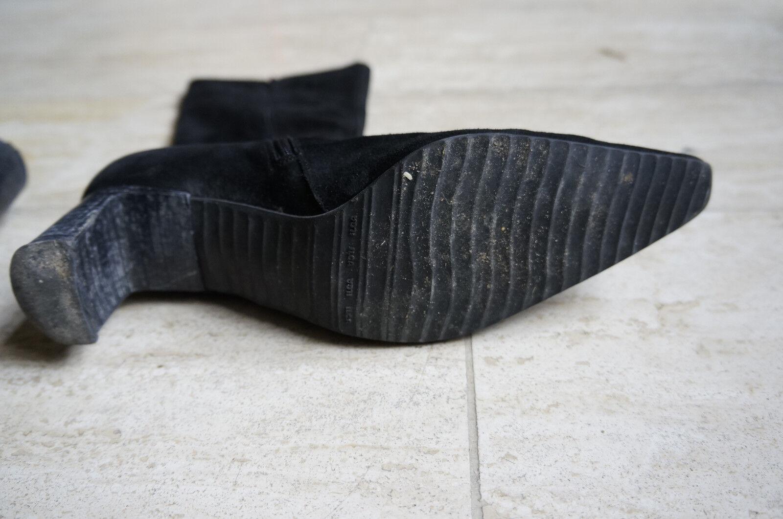 Stiefel schwarz Wildleder Absatz Absatz Absatz K+S schuhe Gr. 39 40 d2ecd6