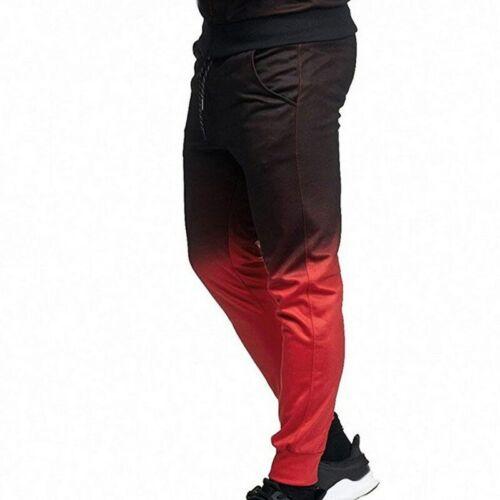 Men Tracksuit 3D Printed Pleated Zipper Plus Size Hooded Sweatshirt Pant Set