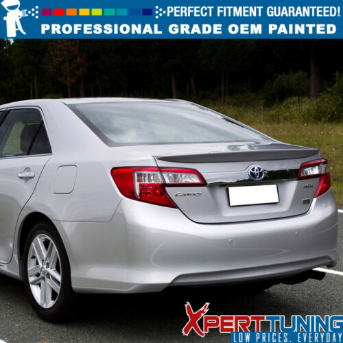 Fits 12-14 Toyota Camry Sedan OE Factory ABS Trunk Spoiler OEM Painted Color