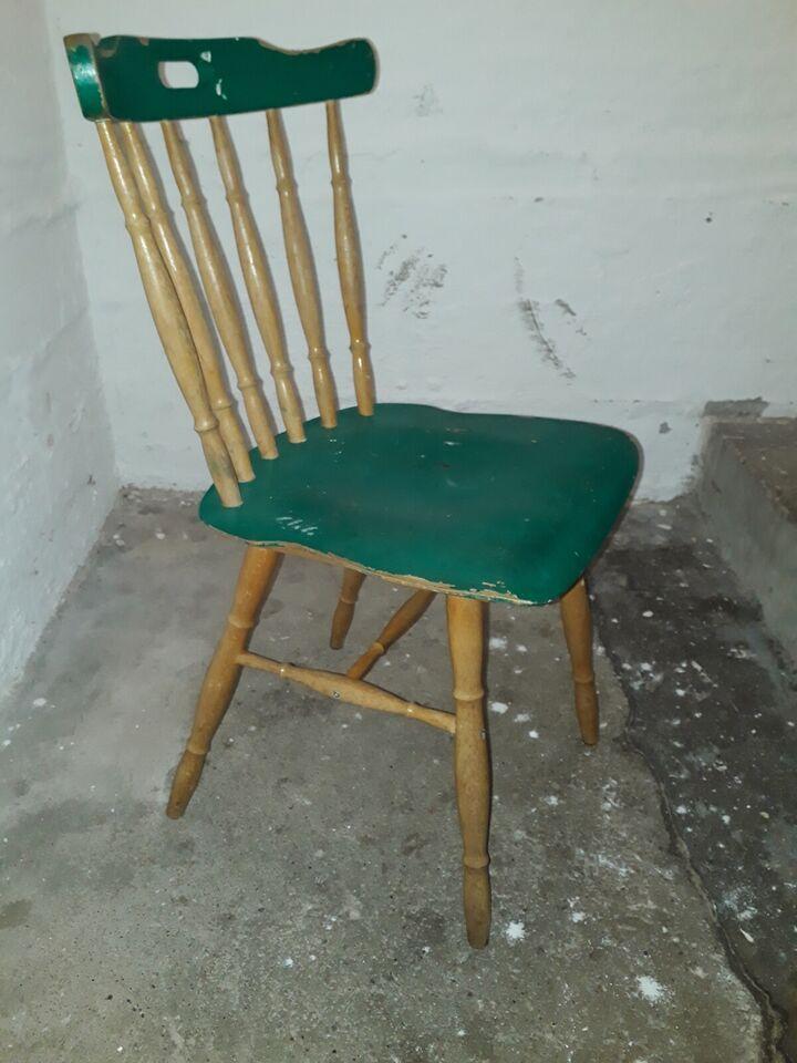 Køkkenstol, Træ, Pinde stol