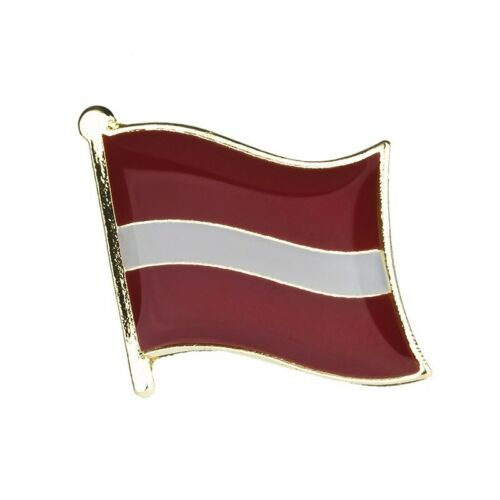 LATVIA LATVIAN FLAG METAL AND ENAMEL PIN BADGE BALTIC STATE BRAND NEW FREE POST