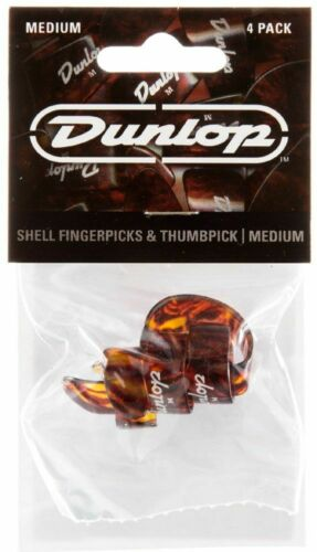 Jim Dunlop JD-9010TP 3 Fingerpicks and 1 Thumb Pick Set