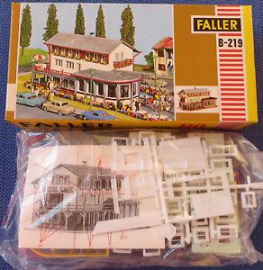 Faller-AMS-Bausatz-219-Cafe-Restaurant-neu-in-verschweisstem-Beutel