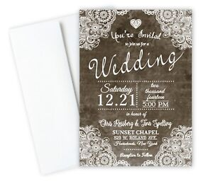 Country Lace Rustic Theme With Rsvp
