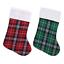 Tartan-Plaid-check-Borsa-Regalo-di-Natale-calza-Holder-ornamenti-Albero-Natale-Decor miniatura 1