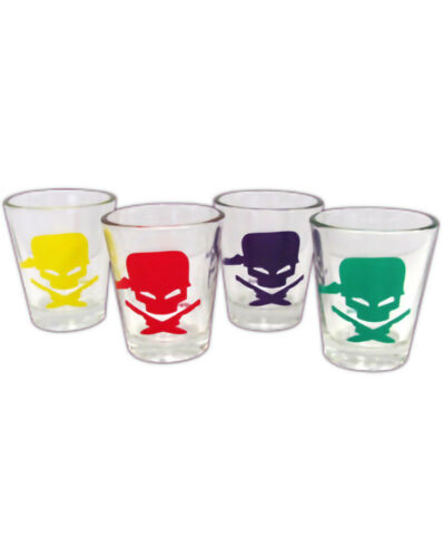 Epic Meal Time logo 4 Pack Colourful Shot Glasses