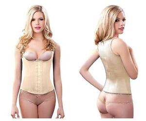 latex plus size waist training vest with wide straps & high back