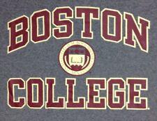 Boston College T Shirt Large Mens Champions BC School Logo 100% Cotton Gray