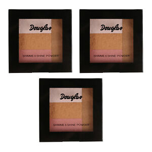 SET 3x Douglas 925434 Teint Make-up Holidays Effect MU0301 Shimmer+Shine 9 g