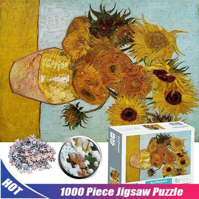 1000 Pc Sunflower Van Gogh Jigsaw Puzzles Adult Kids Intelligent