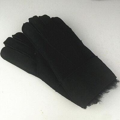 100% Sheepskin Genuine Leather Gloves Man&Women Fur Mitten Choice